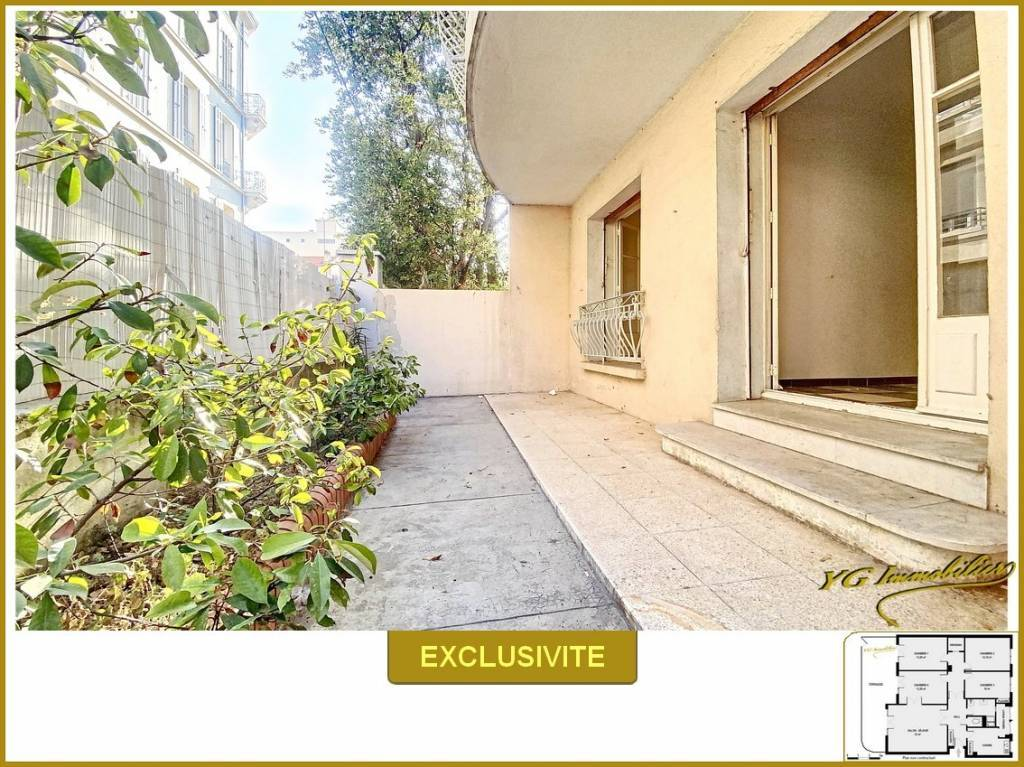 T5 100 m² en rez de jardin 4 vraies chambres