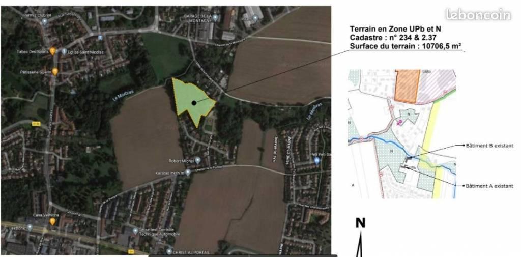 En exclusivité, vente terrain vaibilisé à bâtir avec un bois privatif à la Queue-en-Brie