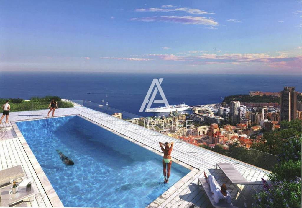 New apartments just at the entrance to Monaco in Beausoleil.