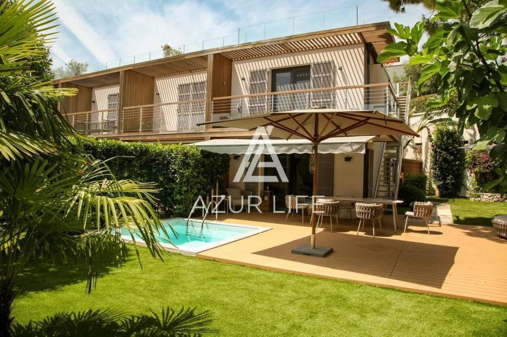 Apartment villa with garden and swimming pool