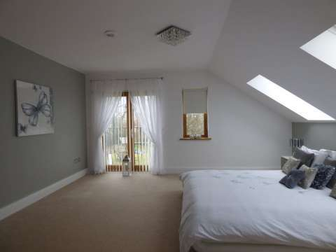 Bedroom Skylight Natural light Carpet