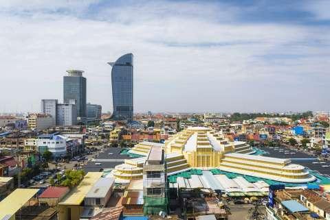 central phnom penh city in cambodia