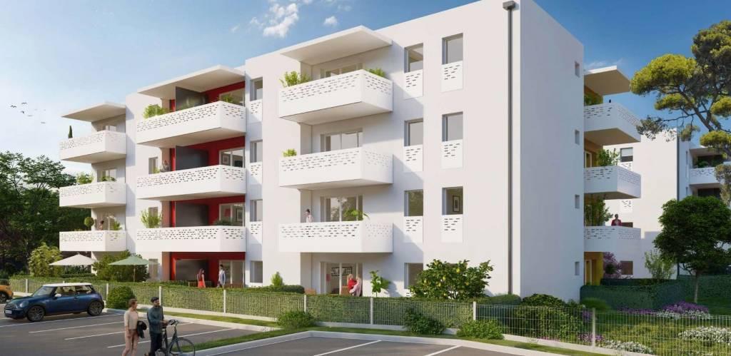 Très beau T2 neuf dans une petite résidence sécurisée avec ascenseur, terrasse et parking privatifs