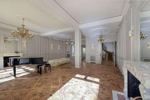 Salon Lustre Parquet Cheminée
