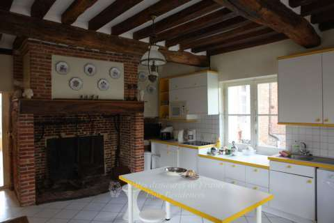 Kitchen Fireplace Exposed bricks Tile