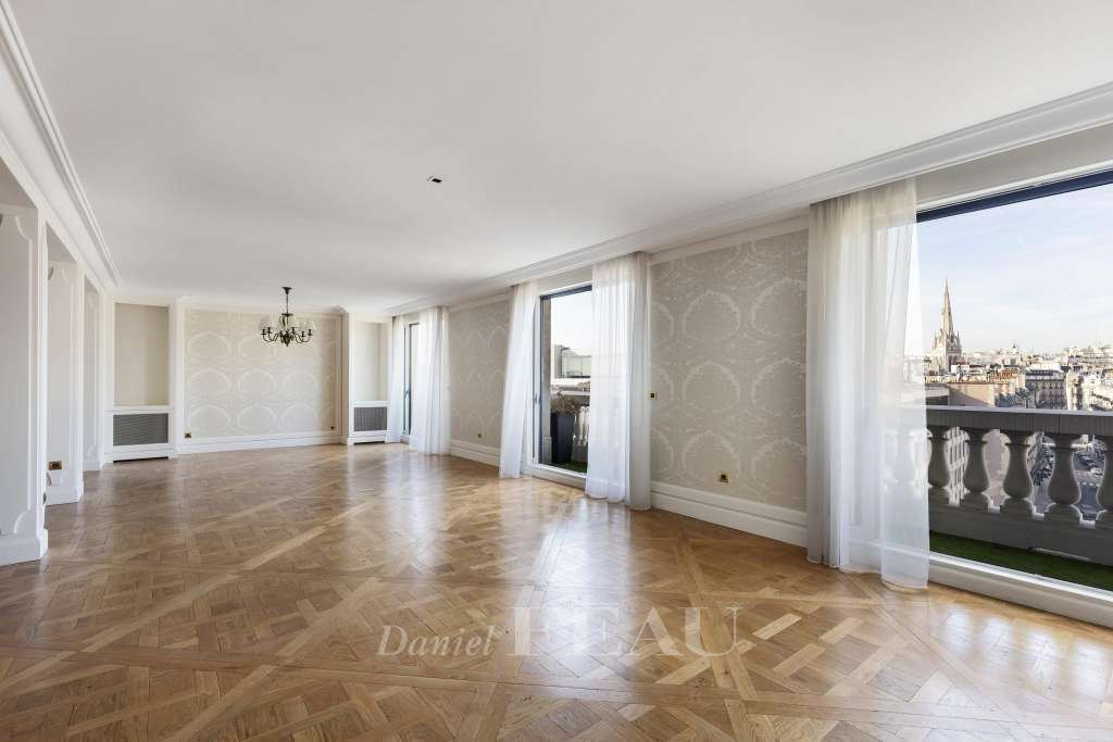 Living-room / reception room, wooden floor, open view