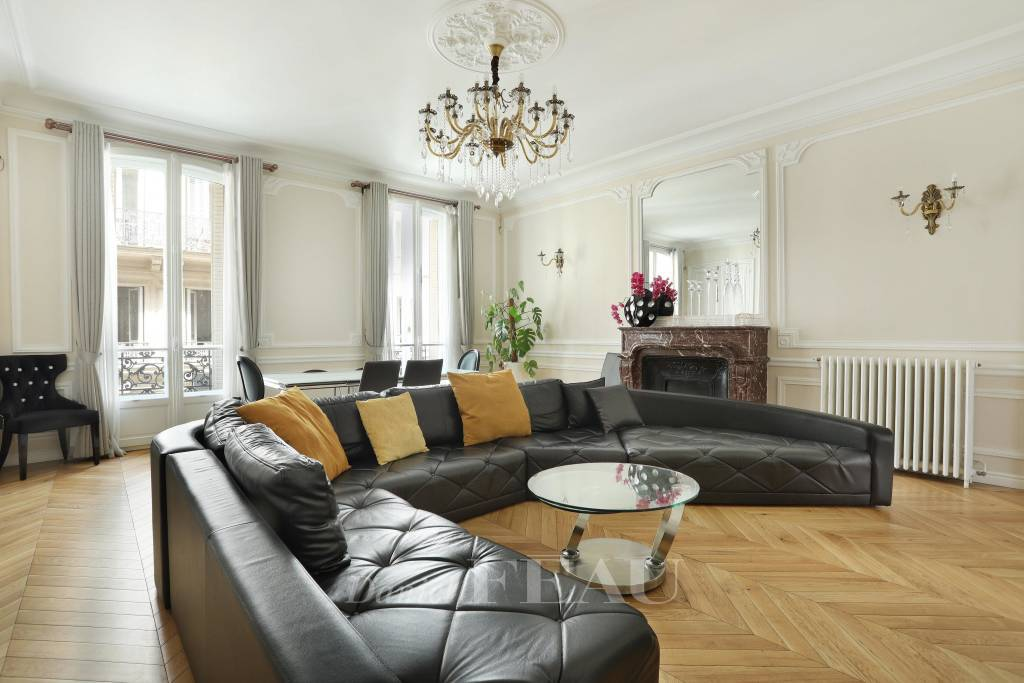 Living-room, wooden floor, fireplace