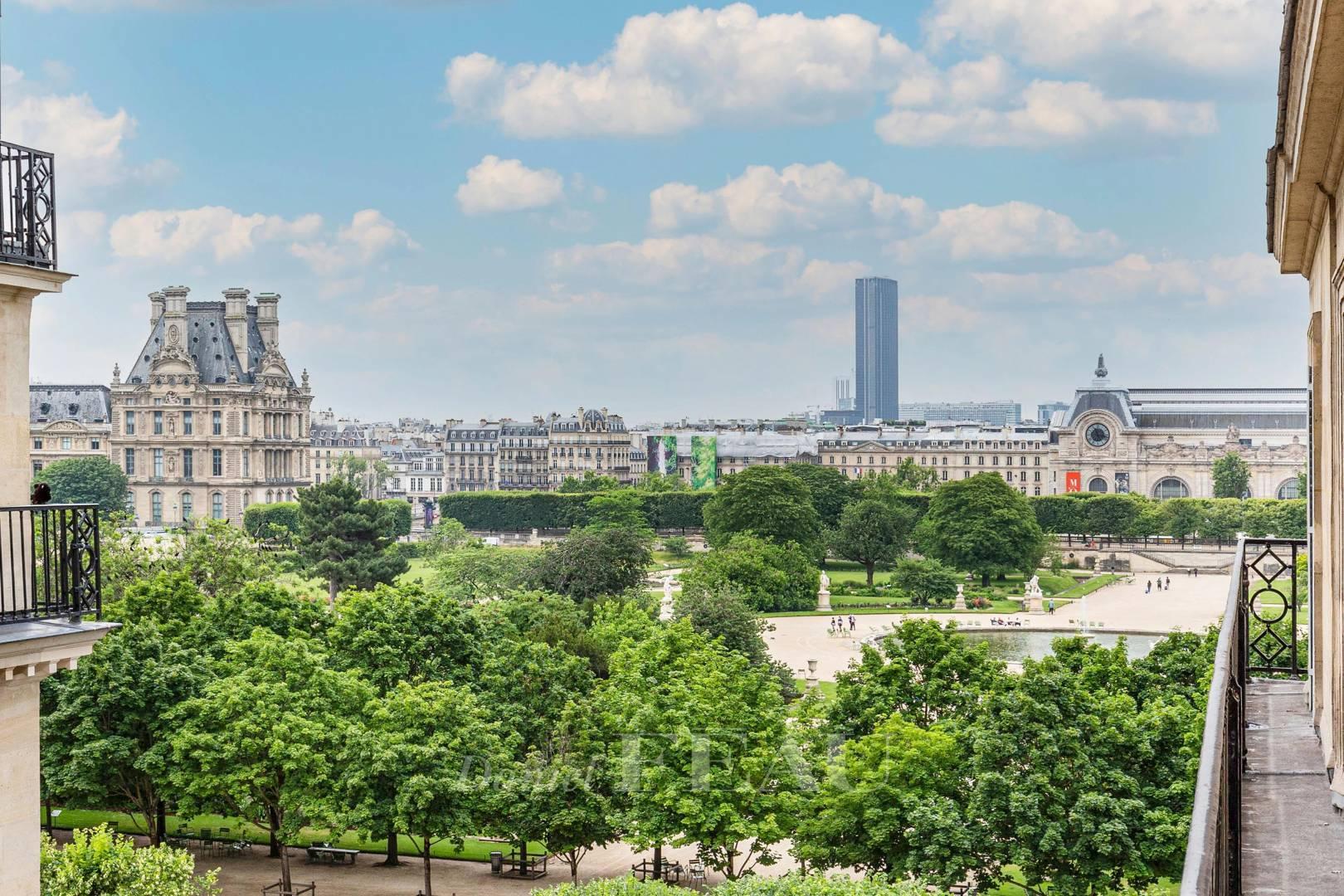 Vue sur le jardin des Tuileries