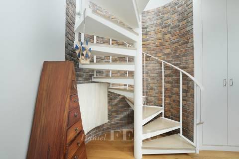 Closet Wooden floor Exposed bricks