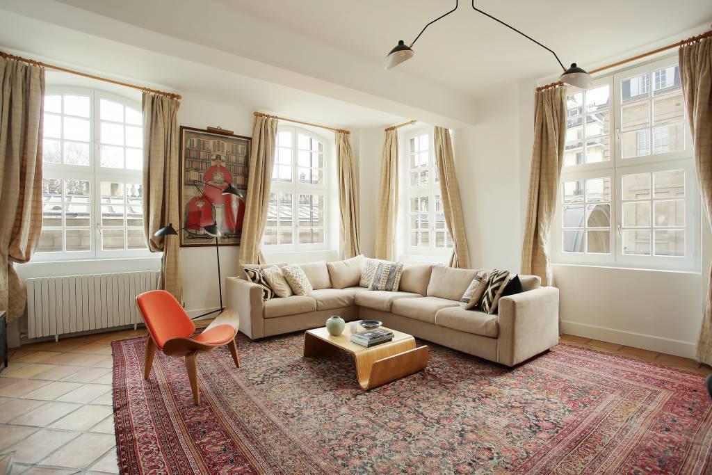 Living-room Tile Wooden floor