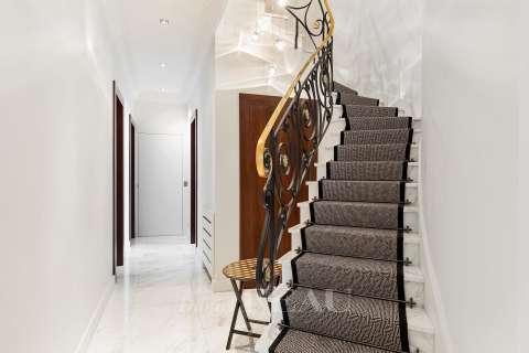 Stair, marble floor