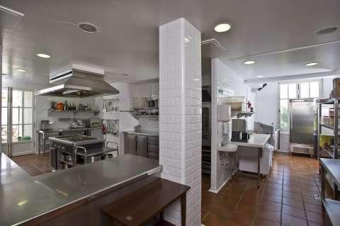 Cuisine Carrelage Bar Îlot de cuisine Acier inoxydable