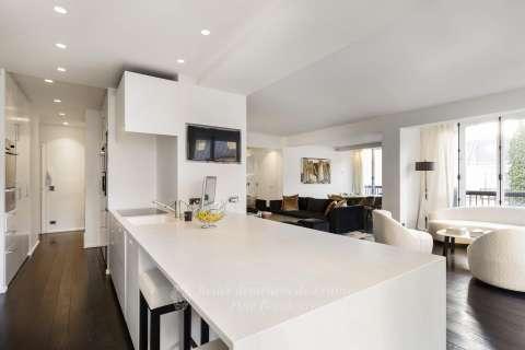 kitchen, living room