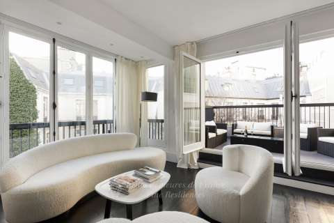 living room, terrace