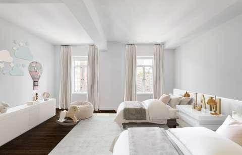 Bedroom Wooden floor Carpet