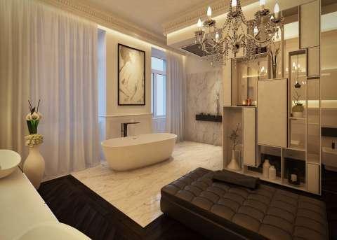 Salle de bains Lustre