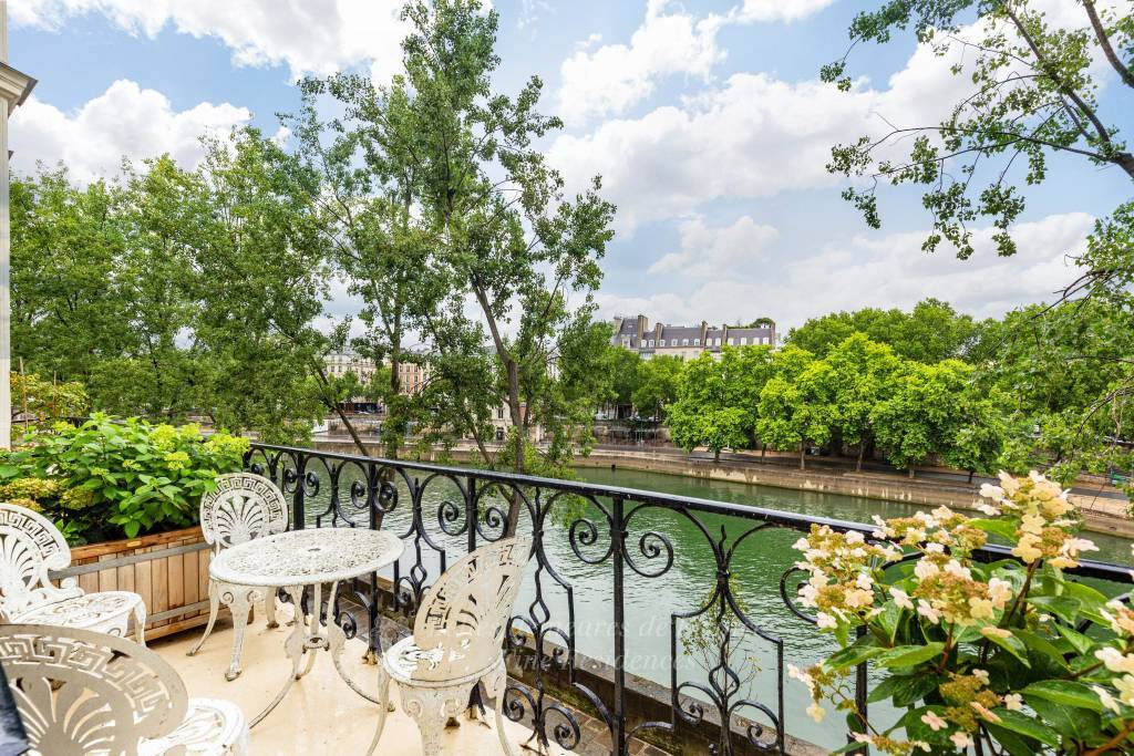 Terrace, view on Seine River