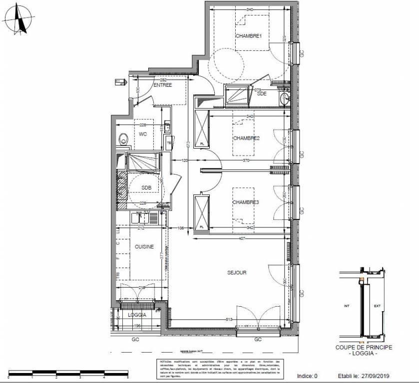 Magnifique appartement 4 pièces - 79 m2 avec loggia