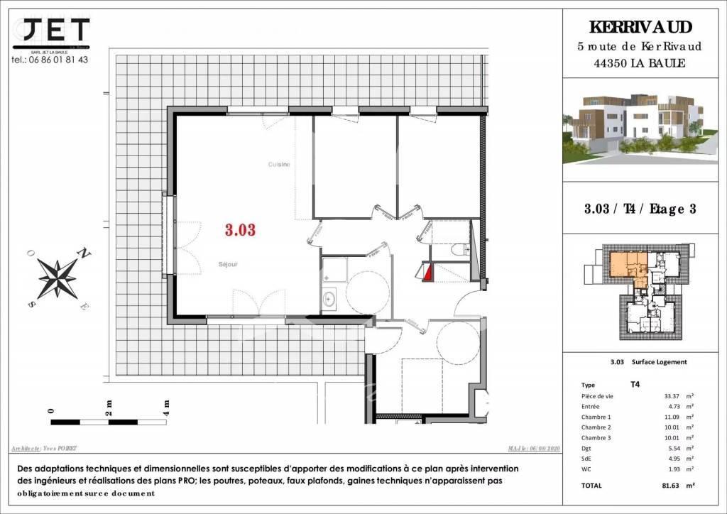 Appartement 4 pièces La Baule Escoublac
