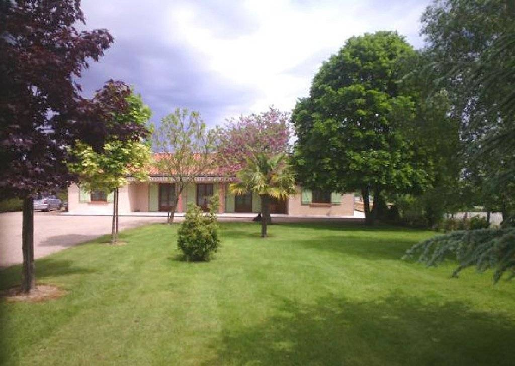 Modern country house with large garden