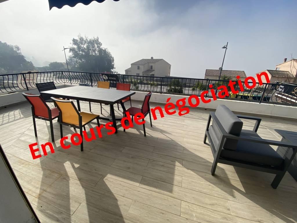SUPERBE T3  - Terrasse 75m2 magnifique vue mer à 50 m de la plage de TIUCCIA