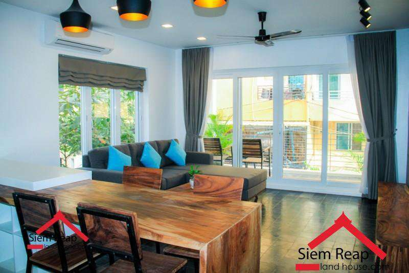 Newly 1 bedroom modern apartment for rent in siem reap ID: A-213 $350-400per month