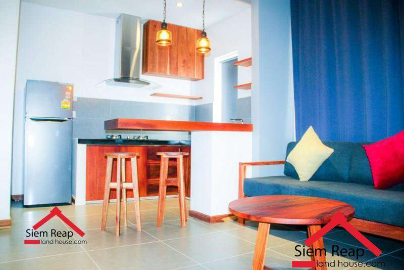 Newly 1 bedroom modern apartment for rent in siem reap ID: A-212 $400 per month
