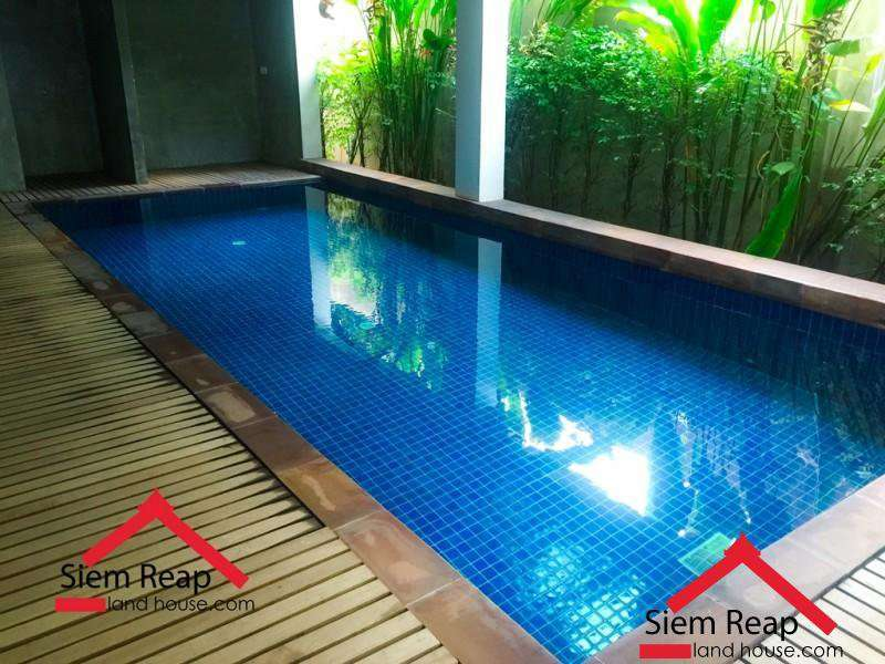 1 bedroom apartment with swimming pool for rent in Siem Reap ID: A-198 $450 per month