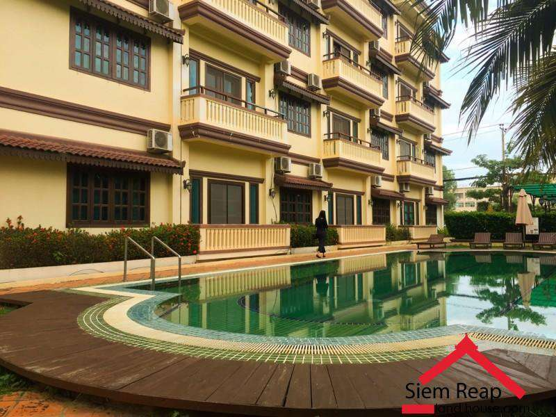1 Bedroom apartment with swimming pool Gym for rent in Siem Reap ID: A-200 $400 per month