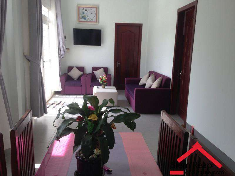2 bedrooms apartment full furniture for rent in siem reap ID  A-176 $400/m