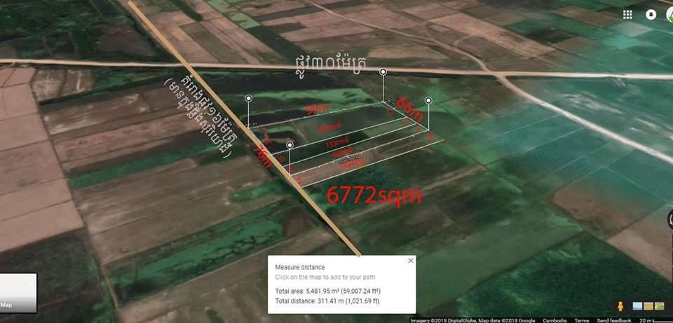 Land for sale in 6772sqm Mr. Phall