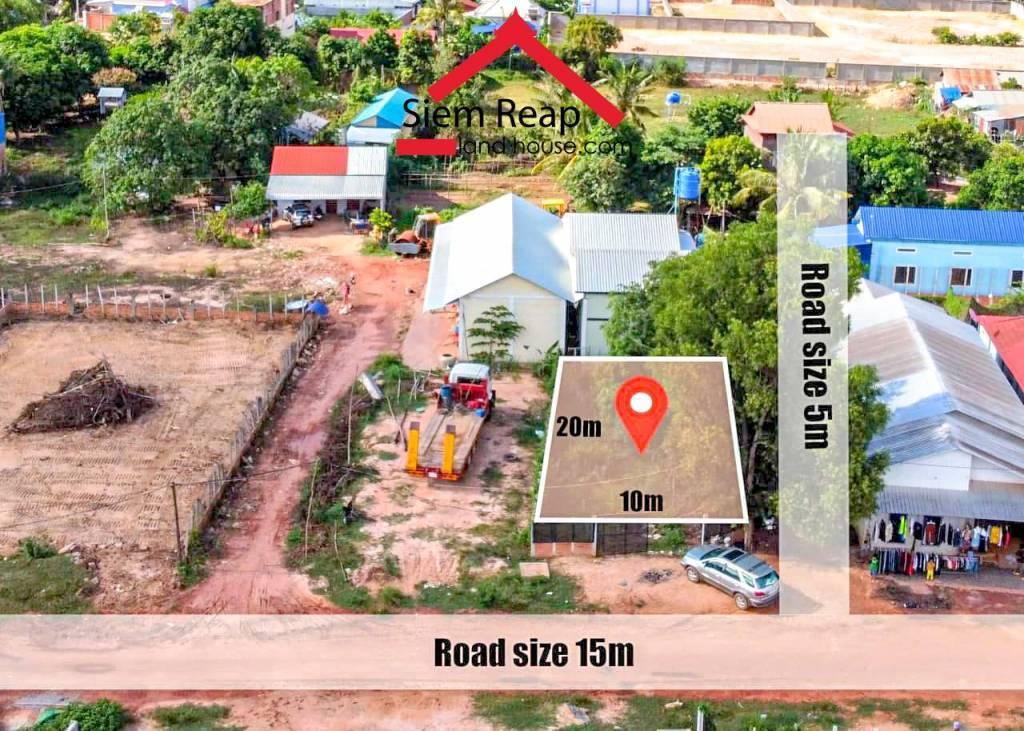 Land for sale in front of TramNeak Market (Chlok Orndoung Village)