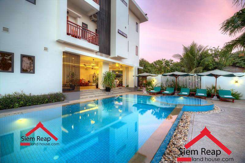 1 bedroom apartment with pool for rent in Siem Reap ID: A-190 $450 per month