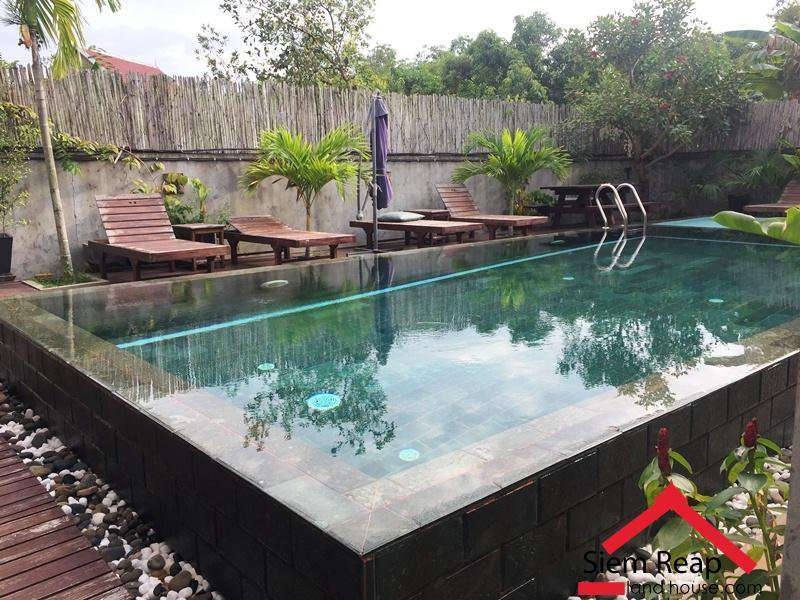 1 Bedroom Apartment With Pool In Siem Reap Near To River $400 Per Month ID A-183