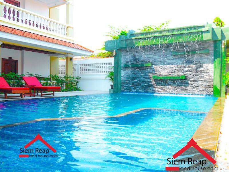 Newly built 1 bedroom apartment with swimming pool and gym for rent in Siem Reap $450/month, A-165