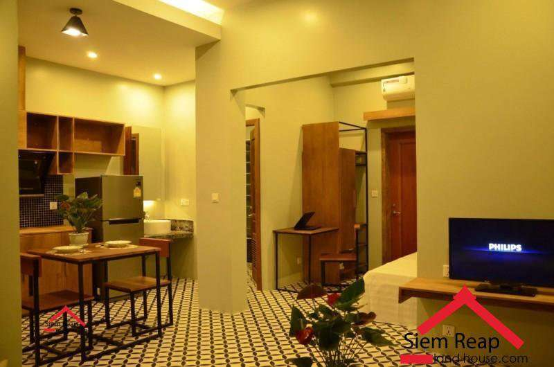 Newly 1 bedroom apartment for rent at 7 Makara road  siem reap ID: AP-221 $350/m