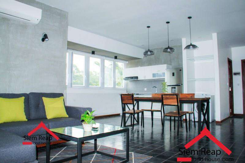 Newly 2 bedrooms modern apartment for rent in siem reap ID: AP-213 $600 per month