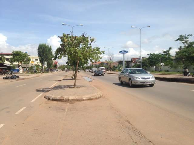 Land on national road 6A in siem reap at airport side for sell $1200/sqm ID LFS-169