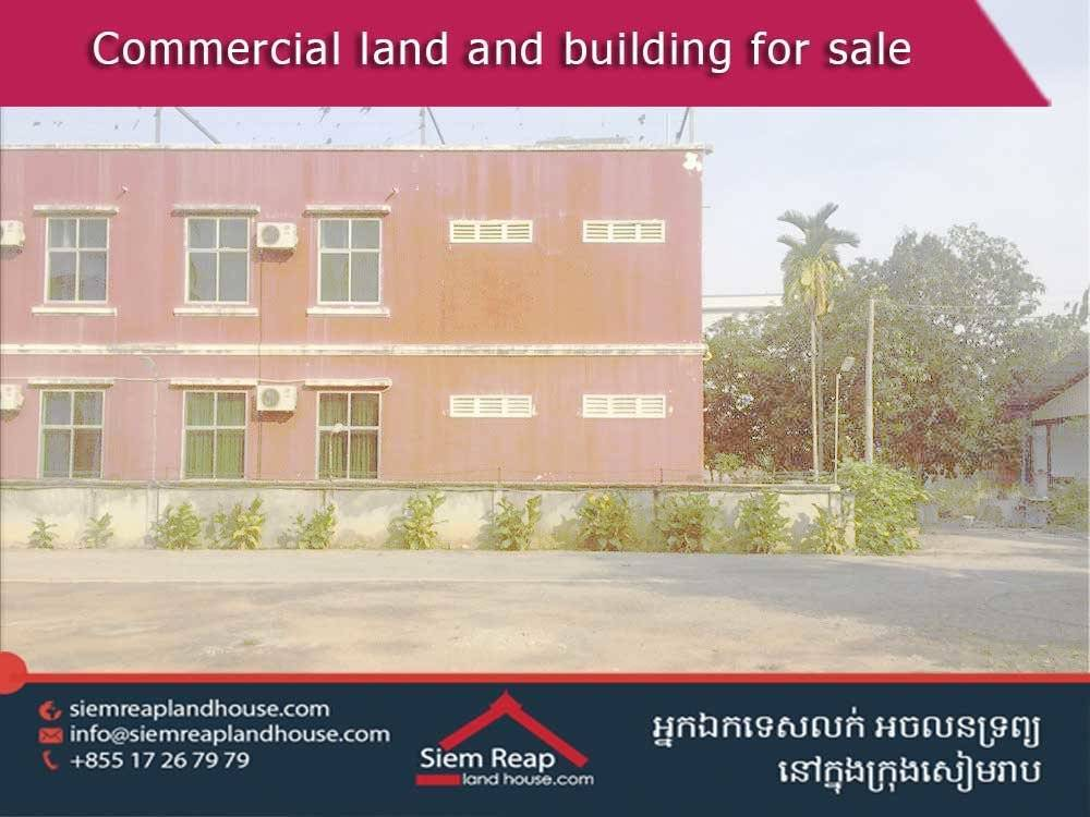 Commercial building and land for sale in Siem Reap city center