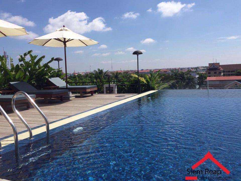 2 bedrooms apartment swimming pool at rooftop gym in Siem reap for rent $1250 ID:  APP-182 Size 85sqm