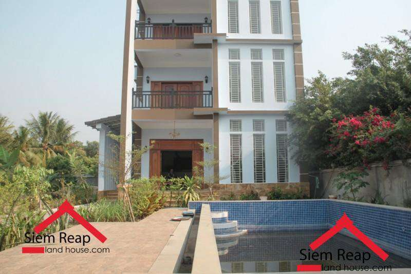 4 units apartment with swimming pool for rent in siem Siem Reap ID: CMFR-169 $2500 per month