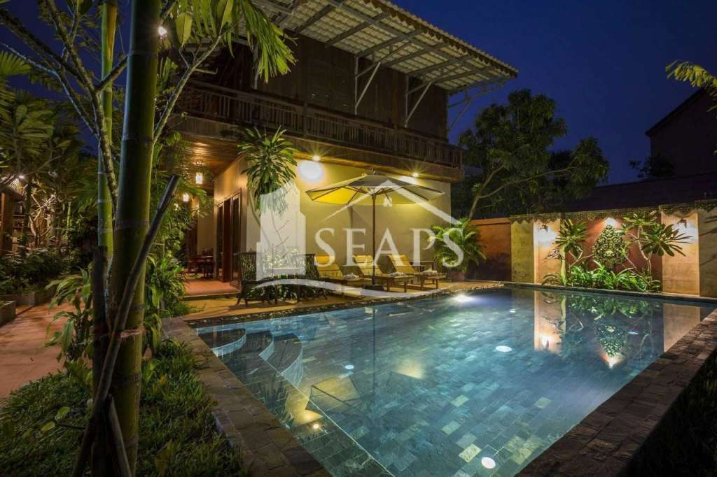 Luxury Khmer Style Boutique Pool Hotel & Land for Sale