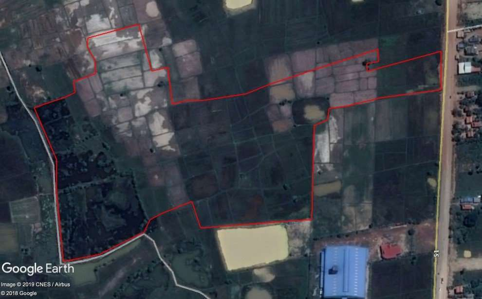40km from PP Land for Sale road 51