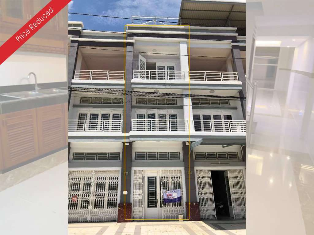 Shophouse for Sale-Aoen Mall Sen Sok, Phnom Penh(Under Value)