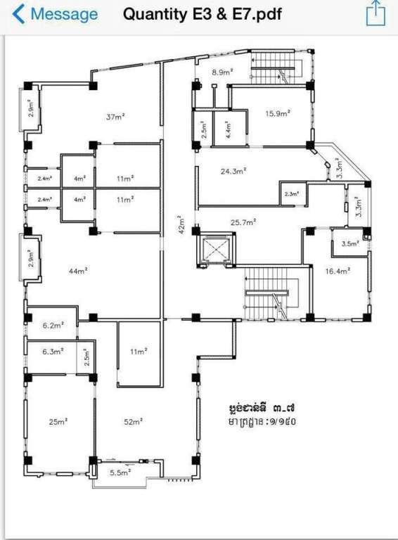 出租 公寓 Toul Kork Boeung Salang