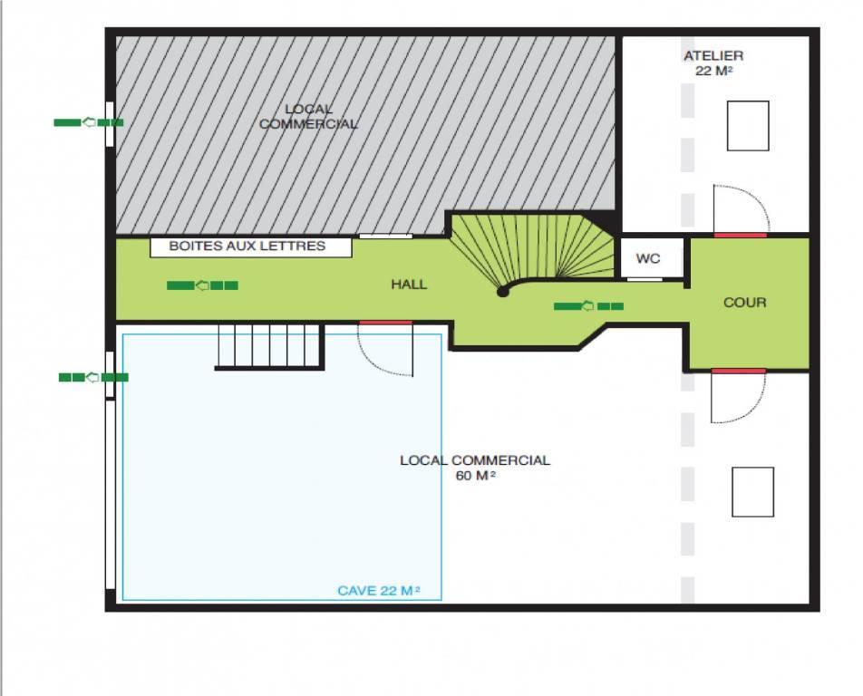 A VENDRE  MURS LIBRES - LOCAL COMMERCIAL 104 m²