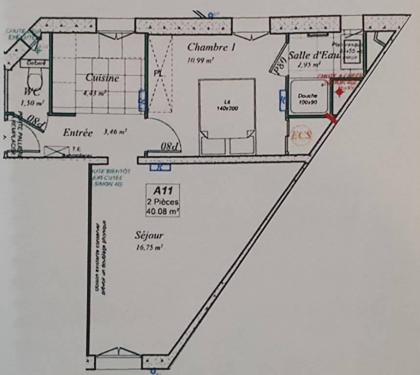 Appartement 2 pièces 40m² à BOULOGNE