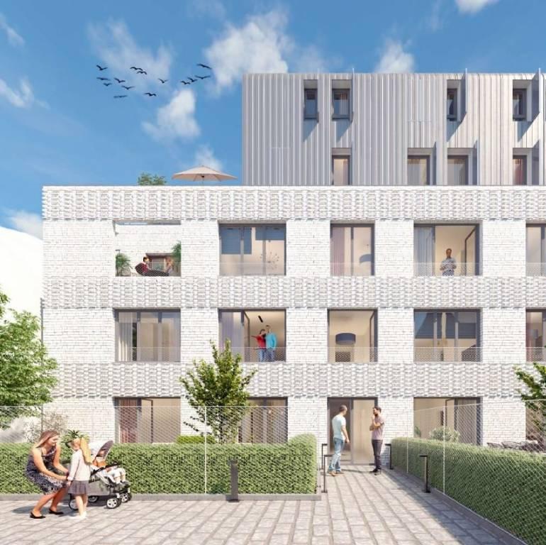 Studio à Paris 20 - 29 m2 - RDC avec terrasse de 10 m2