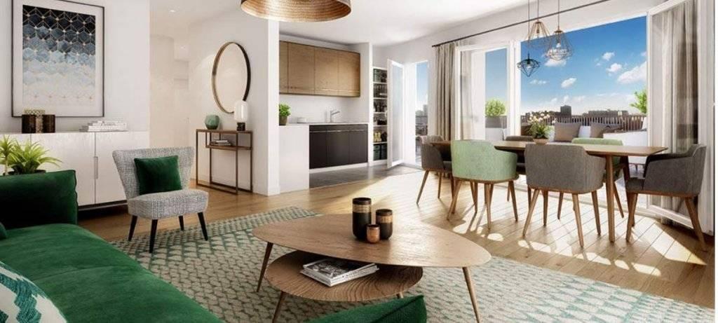 Appartement 4 pièces - 77 m2 - 5e étage avec 2 balcons