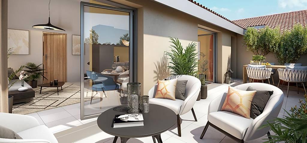5 pieces dernier etage sur 37m² de terrasse